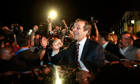 Leader of New Democracy Antonis Samaras