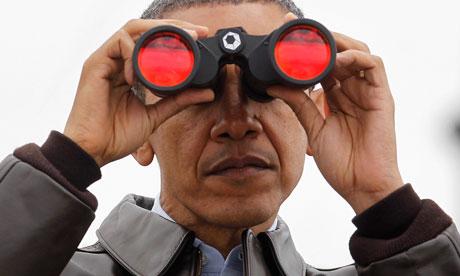 Barack Obama binoculars