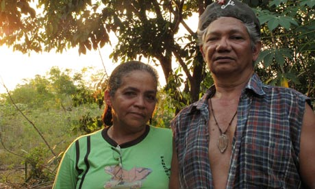 Amazon rainforest activists José Cláudio Ribeiro da Silva and Maria do Espirito Santo, who were murdered last year. Photograph: Reuters