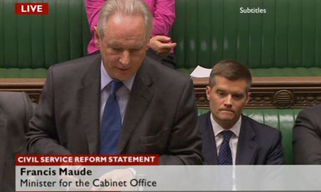 Francis Maude making a statement on civil service reform.