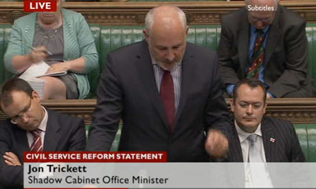 Jon Trickett responding to the statement on civil service reform.
