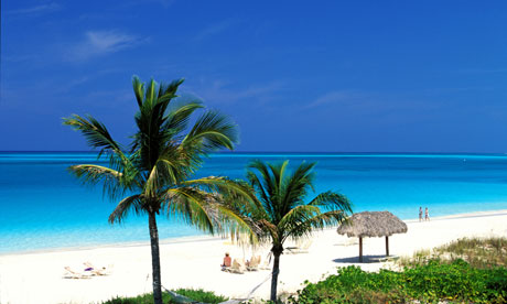 Turks & Caicos, Providenciales island, the beach of the Grace Bay Club hotel