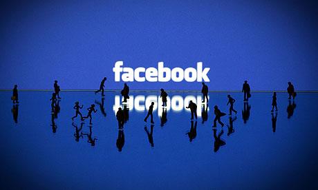 Facebook with dark figurines