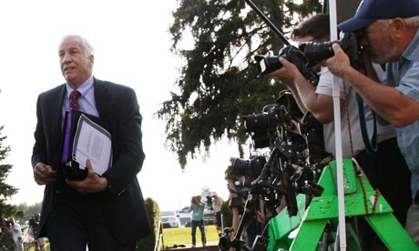 ... Sandusky could take the stand in his own defense. Photograph: Mark