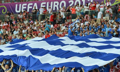 Greek fans at Euro 2012
