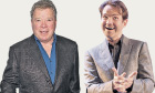 Did someone say sorry? William Shatner and Jimmy Carr.