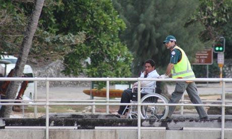 Asylum seeker on Christmas Island