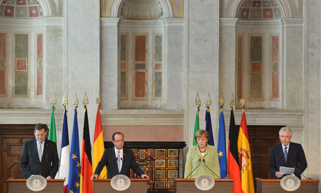 Eurozone leaders in Rome
