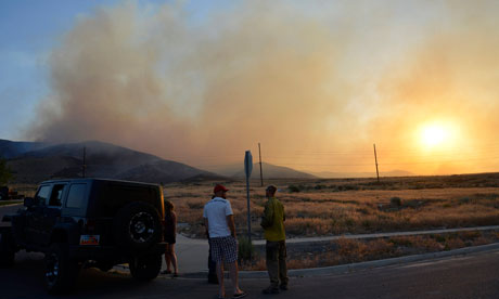 Wildfire sparked by target shooters results in Utah evacuations