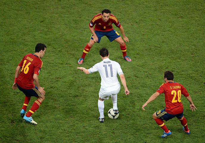 Spain v France 3: Nasri