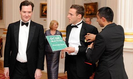 George Osborne is offered a GCSE maths book