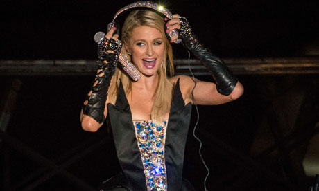 Paris Hilton takes to the decks at the Pop Music Festival in Sao Paulo, Brazil. Photograph: Yasuyoshi Chiba/AFP/Getty Images 					 	      	    It was only a matter of time before Paris Hilton did wha