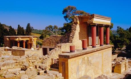 Palace ruins at Knossos, Crete, Greece
