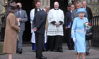The Queen leaves St Michaels Roman Catholic church in Enniskillen on her Northern Ireland tour