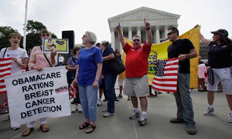 Healthcare protest supreme court