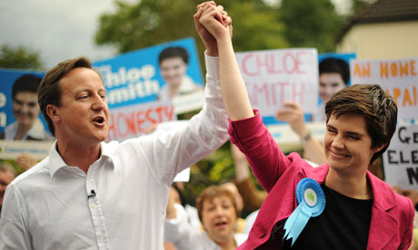 Chloe Smith with David Cameron in 2009.