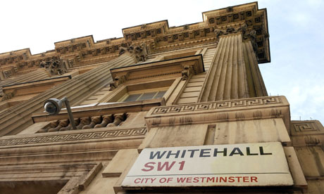 Whitehall sign on building