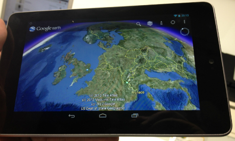 Google Earth on Nexus 7 Tablet