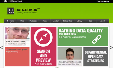 Data.gov.uk new front page