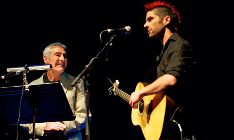 'I like hearing other people do my stuff' … Jones performing with his son Joe, 2011.