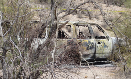 FIVE CHARRED BODIES FOUND ALONG ARIZONA DRUG SMUGGLING ROUTE
