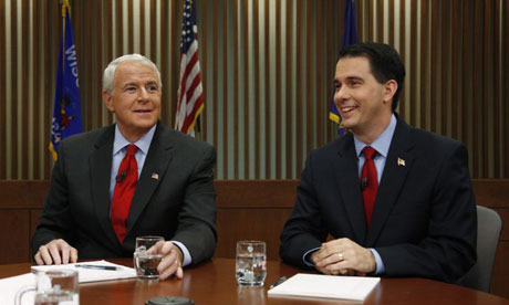 Scott Walker and Tom Barrett debate in Wisconsin recall election