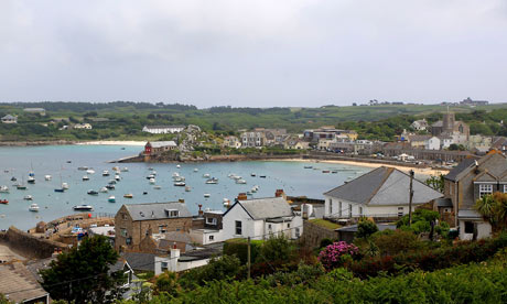 View of St Mary's. An island part of the Isles of Scilly