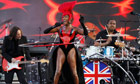 Grace Jones sings Slave to the Rhythm at the diamond jubilee concert