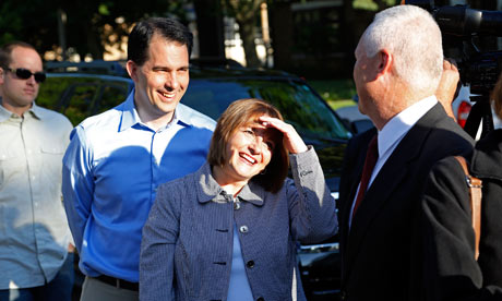 Governor Scott Walker Votes In Wisconsin Recall Election
