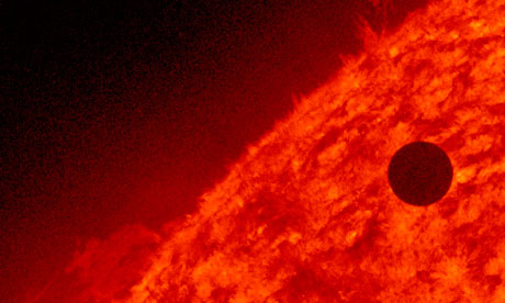 Venus transiting the sun in pictures