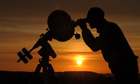 An amateur astronomer views the 2012 transit of Venus