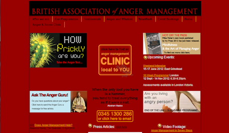 The British Association of Anger Management website