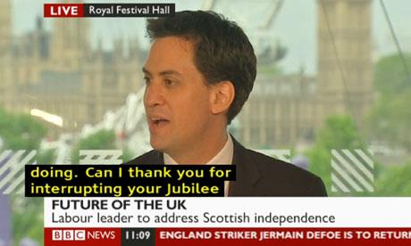 Ed Miliband speaking on 7 June 2012.