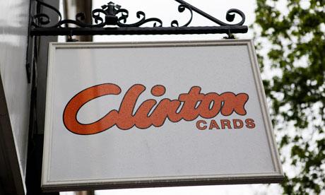 Clinton Cards sign