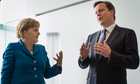 Angela Merkel and David Cameron in Berlin