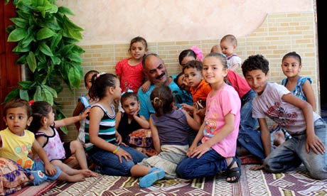 Abu Ali and his family at Friday lunch in Gaza on 8 June 2012.