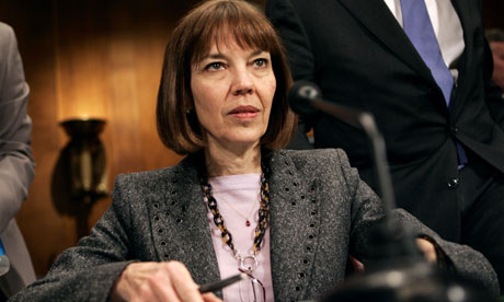 New York Times journalist Judith Miller at a Senate hearing in 2005