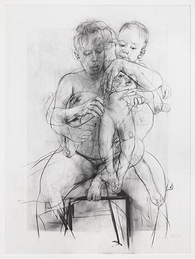 Saville: Reproduction drawing III (after the Leonardo cartoon), 2009-10
