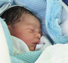 Baby Yazan Sousi, born in Shifa hospital in Gaza on 8 June 2012.