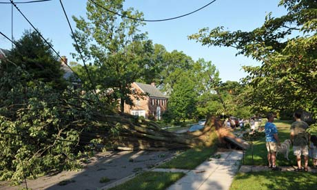 Washington DC derecho storm damage