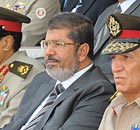 Egyptian President Mohamed Morsi and Field Marshal Hussein Tantawi