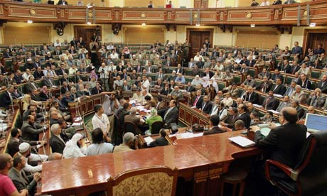 House speaker, Saad el-Katatny, reconvenes the Egyptian parliament in Cairo