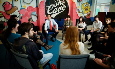 David Miliband at a youth unemployment summit