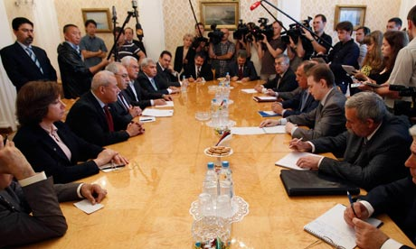 Russian FM Lavrov speaks meets with Syrian opposition leaders in Moscow