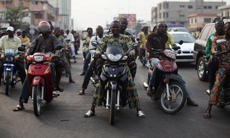 Benin motorcycle traffic
