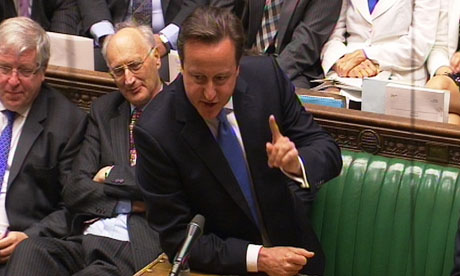 David Cameron tries to limit the fallout over Lords reform during PMQs in the Commons