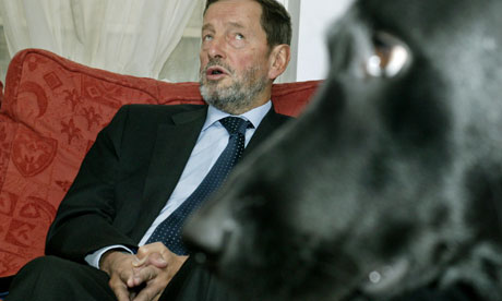 David Blunkett and his guide dog Sadi
