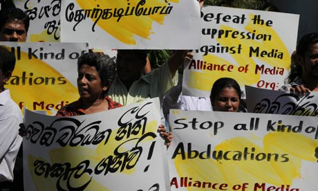 Journalists protest against media suppression and abductions