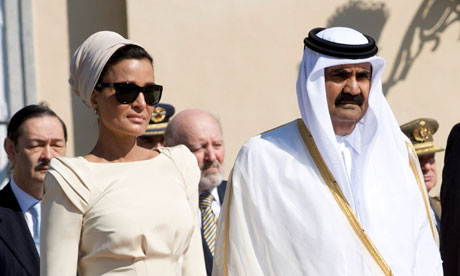 Emir of Qatar and wife