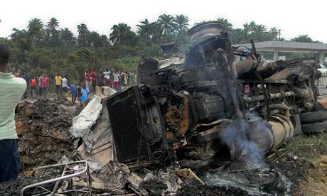 Fuel truck explosion in Niger Delta kills at least 95 and injures 50